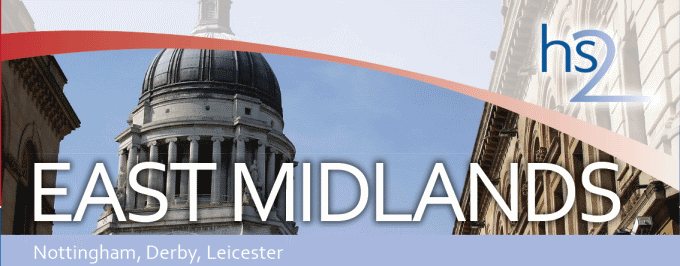 HS2 Ltd East Midlands factsheet, showing Nottingham town hall
