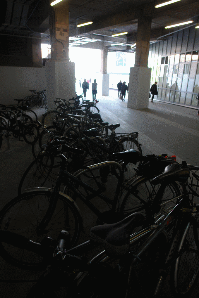 Inadequate bicycle parking at Birmingham New Street station