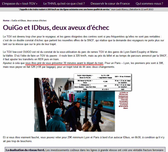 Ouigo passengers need to present themselves at the station 30 minutes before departure (Les Verts)