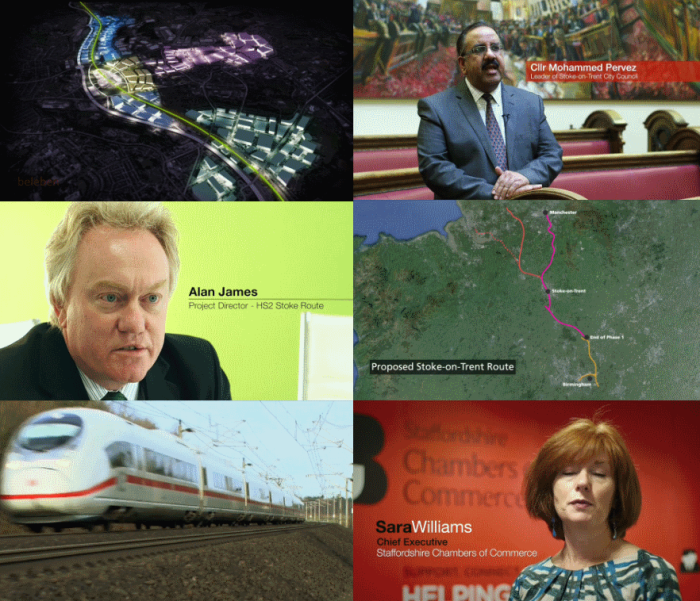 Frames from Stoke on Trent council's October 2014 HS2 video