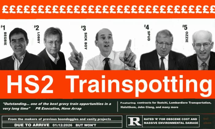 Adonis and co HS2 Trainspotting