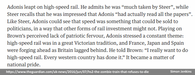 Andrew Adonis was 'much taken' by Jim Steer, The Guardian, 07 Jun 2016