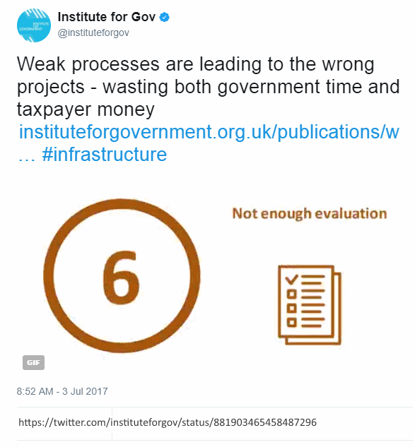 Twitter @instituteforgov, What's wrong with UK infrastructure decision-making