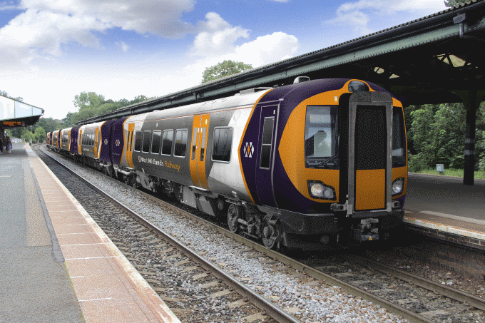 West Midlands Rail livery (not a joke) as presented in 2017