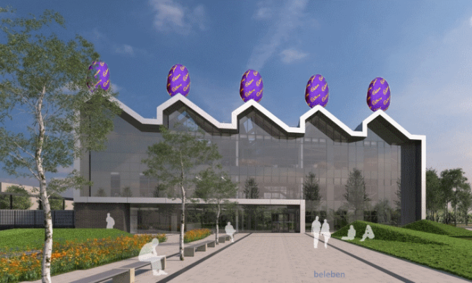 How NCHSR Doncaster could look, with a 'TVam-style' Cadburys mini-egg makeover
